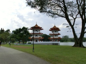 Chinese Garden : The Twin Pagodas